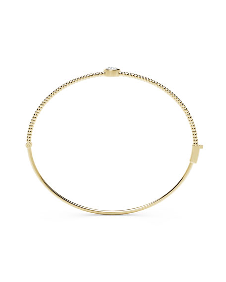 Forevermark 18K Yellow Gold Beaded Diamond Bangle Bracelet