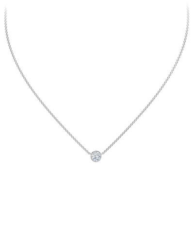 18K White Gold Diamond Pendant Necklace