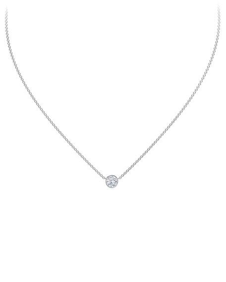 """Forevermark 18K White Gold Diamond Pendant Necklace, 16"""""""