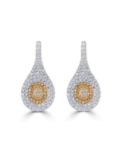 Limoncello 18k Two-Tone Gold & Diamond Pave Earrings