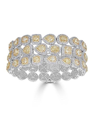 Limoncello 18k Two-Tone Gold & Diamond Multi-Row Bracelet