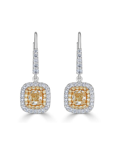 Limoncello 18k Two-Tone Gold & Diamond Drop Earrings