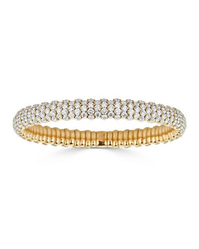 Stretch 18k Gold & Diamond Bracelet  10.45tcw