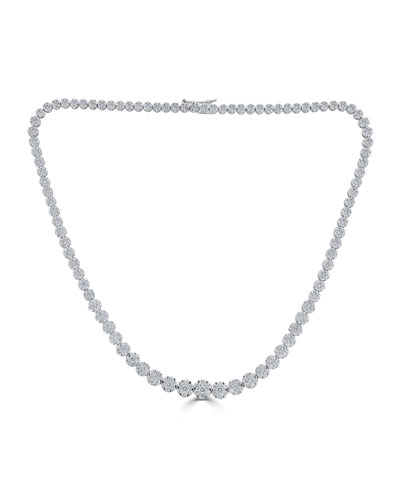 18k Mosaic Graduating Diamond Necklace  11.29tcw