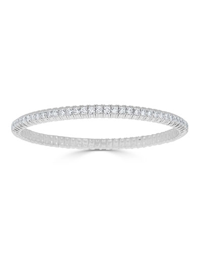 Diamond Stretch Bracelet in 18k White Gold  3.75tcw