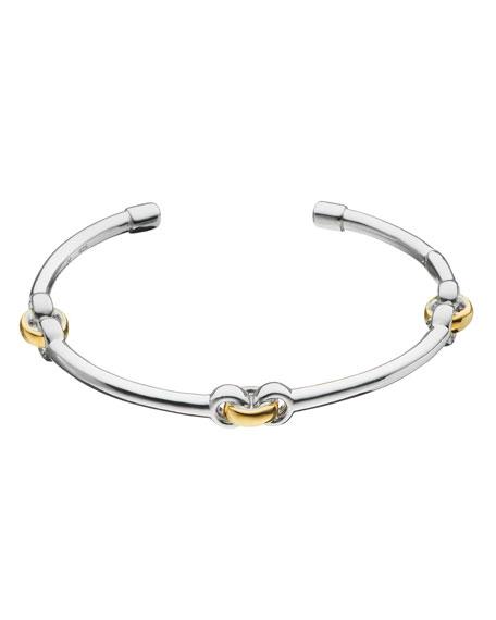MONICA RICH KOSANN Sterling Silver Bracelet With 18K Yellow Gold Links