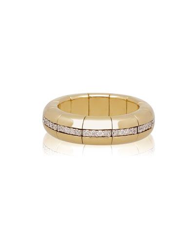 18k Gold PURA Diamond Eternity Band Ring  Size 7