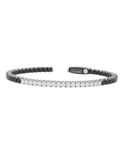 Dado 18k White Gold, Ceramic & Diamond Bracelet