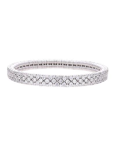 CASHMERE 18k White Gold Diamond Stretch Bracelet