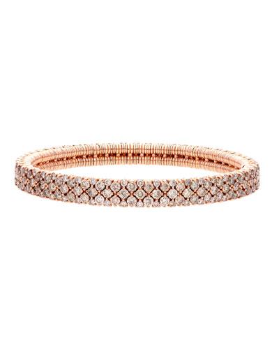 CASHMERE 18k Rose Gold Diamond Stretch Bracelet