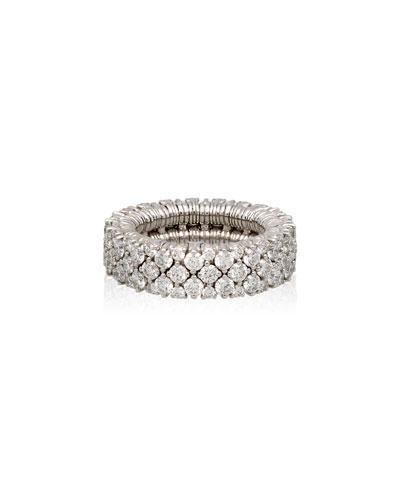 CASHMERE 18k White Gold Diamond Stretch Ring