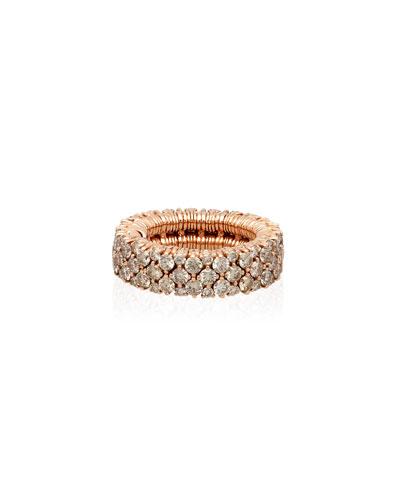 CASHMERE 18k Rose Gold Diamond Stretch Ring
