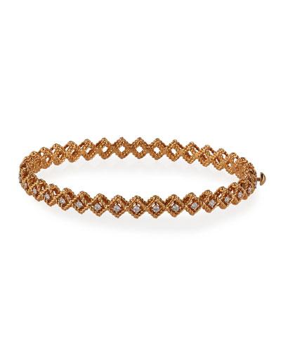 18k Rose Gold New Barocco Diamond Bangle