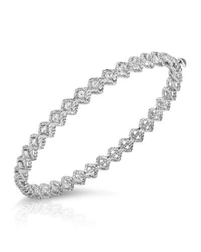 18k White Gold New Barocco Diamond Bangle