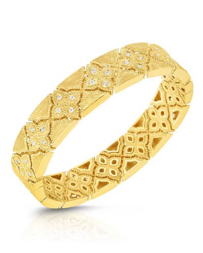 Venetian Princess 18k  Gold Diamond Bangle