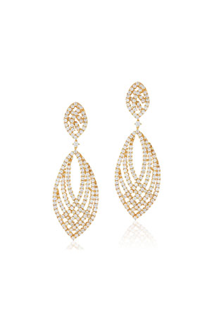 Andreoli 18k Gold & Diamond Pave Drop Earrings