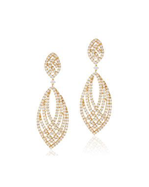 9f338b0e62e Andreoli 18k Gold   Diamond Pave Drop Earrings
