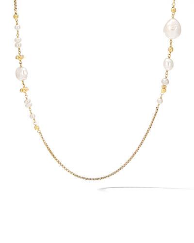 Bijoux 18k Long Pearl Necklace