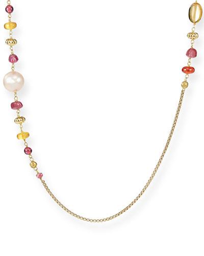 Bijoux 18k Gold, Stone & Pearl Necklace