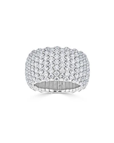 Stretch 18k White Gold Diamond Ring  3.3tcw