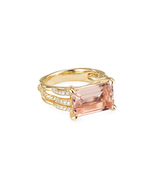 83c275de79c51 David Yurman Tides 18k Gold Diamond   Morganite Ring