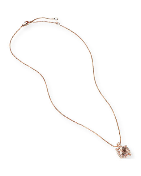 Image 3 of 3: David Yurman Chatelaine 18k Rose Gold Morganite Necklace