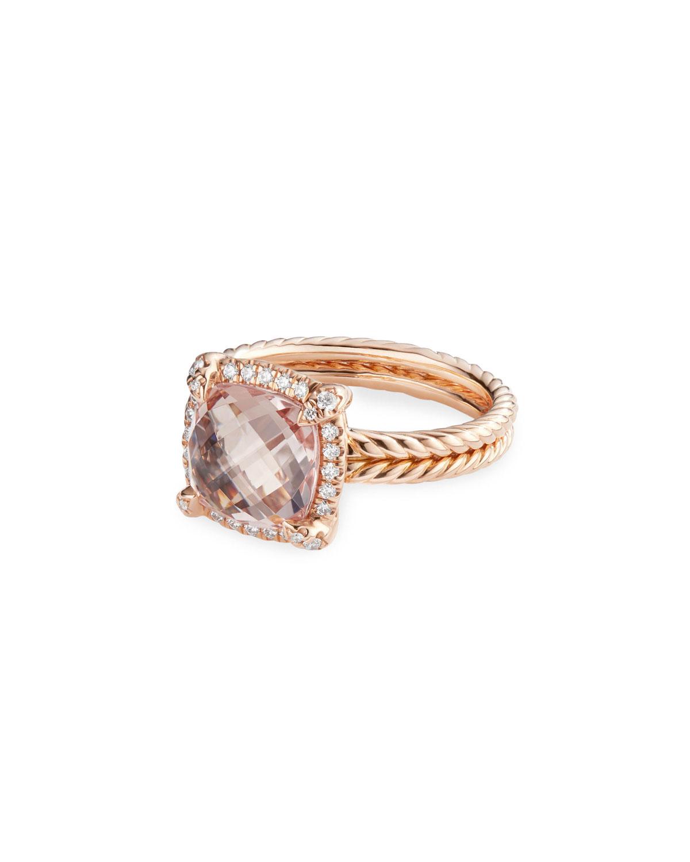 e087b90012da3 David Yurman Chatelaine 18k Rose Gold Morganite Ring