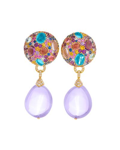 Multi-Stone & Detachable Drop Earrings