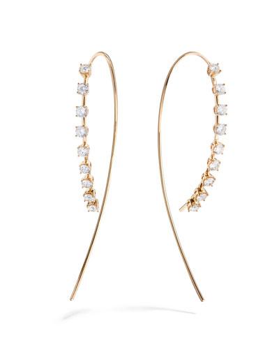 Solo 14k Gold Large Diamond Upside Down Earrings