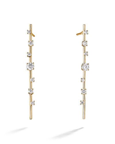 Solo 14k Gold Diamond Stick Earrings