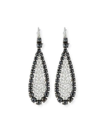 18k White Gold Scintillate Black & White Diamond Earrings