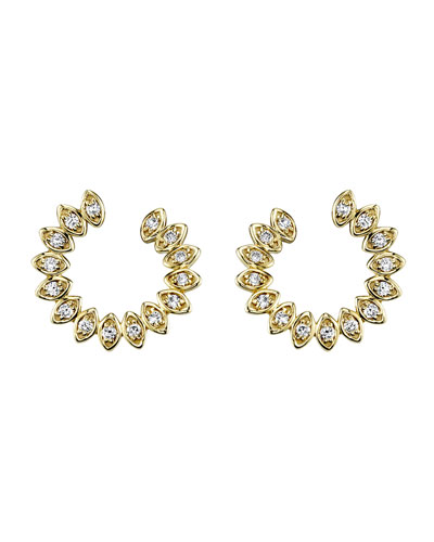 14k Diamond Marquise Back-to-Front Earrings
