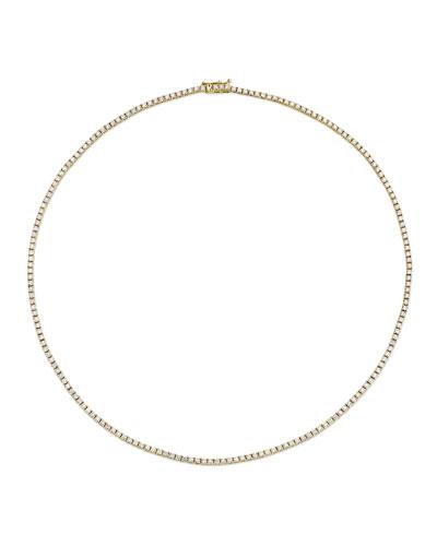 14k Gold Diamond Tennis Necklace  4.44tcw