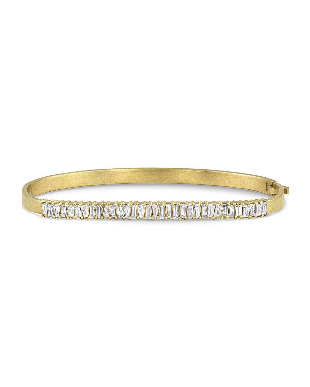 7d38aed4b Dominique Cohen 18k Gold Diamond Hinged Bangle Bracelet   Neiman Marcus