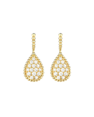 Serpent Boheme 18k Diamond Teardrop Earrings