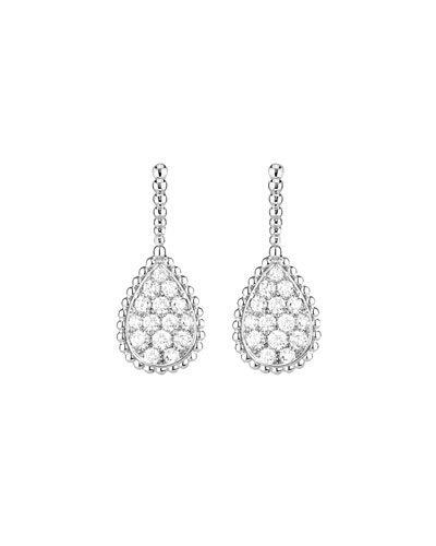 Serpent Boheme 18k White Gold Diamond Teardrop Earrings