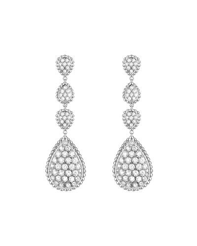 Serpent Boheme 18k White Gold Diamond Drop Earrings