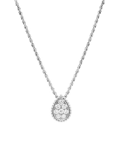 Serpent Boheme 18k White Gold Diamond Necklace