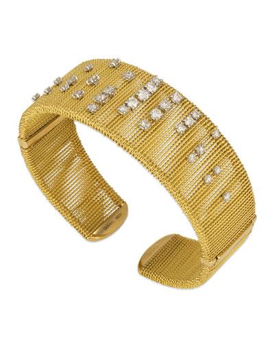 Renaissance 18k Dancing Diamond Cuff Bracelet