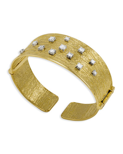 Renaissance 18k Cuff Bracelet with Diamonds