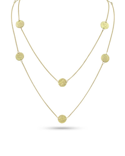 Griffin Coin 18k Gold Long Necklace  42L