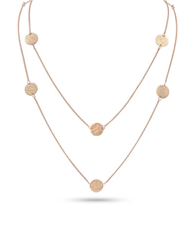Griffin Coin 18k Rose Gold Long Necklace  42L