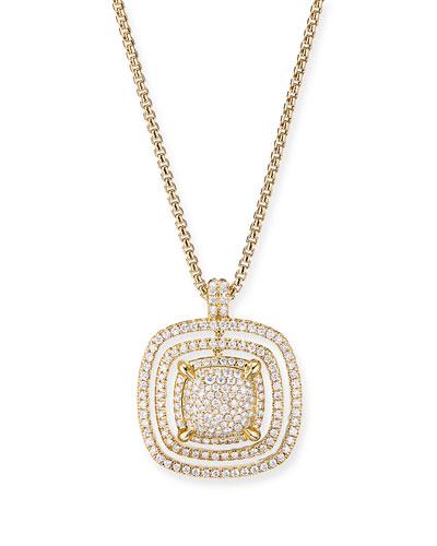 Chatelaine 18k Full Diamond Pave Pendant Necklace