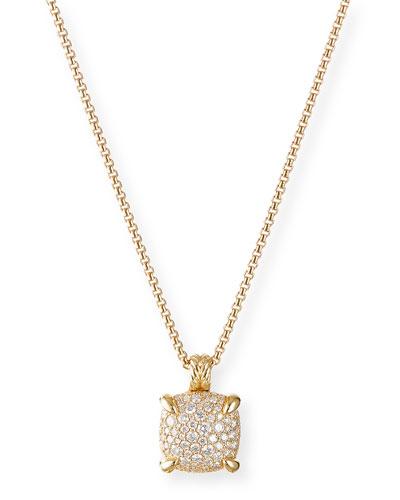 Chatelaine 18k Gold Diamond Pendant Necklace, 18