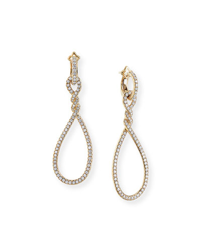 Continuance 18k Gold Diamond Drop Earrings, 61mm