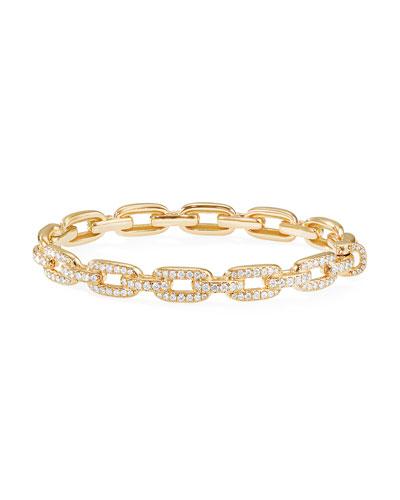 Stax 18k Gold Diamond Link Bracelet, Size L
