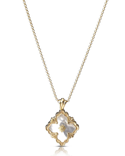 18k Mother-of-Pearl Opera Pendant Necklace