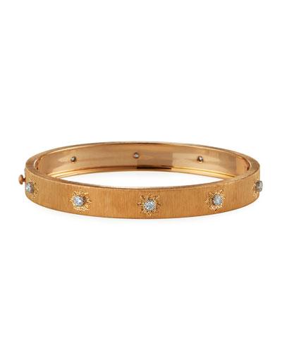 Macri Classica 18k Pink Gold Diamond Bangle