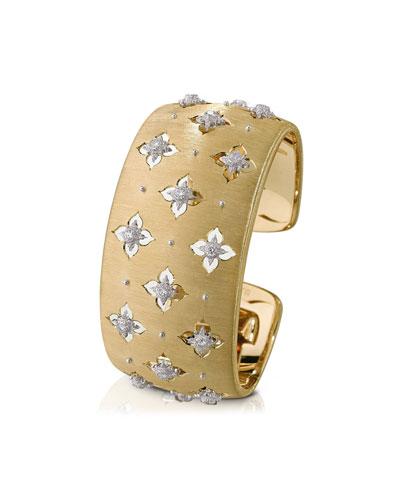 Macri Giglio 18k Yellow Gold Diamond Cuff  3cm