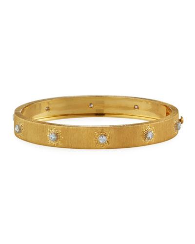 Macri Classica 18k Gold Diamond Bangle